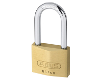 ABUS BRASS PADLOCK 40mm WITH 60mm LONG SHACKLE