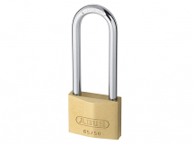 ABUS BRASS PADLOCK 50mm WITH 80mm LONG SHACKLE