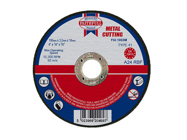 Cut Off Disc for Metal 100 x 3.2 x16mm