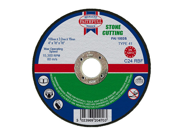 Cut Off Disc for Stone 100 x 3.2 x 16mm