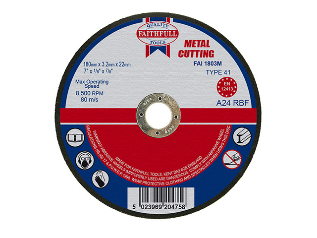 Cut Off Disc for Metal 180 x 3.2 x22mm