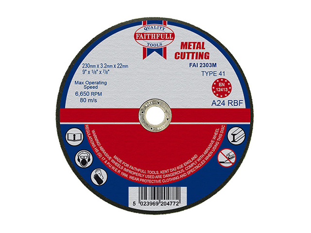 Cut Off Disc for Metal 230 x 3.2 x22mm