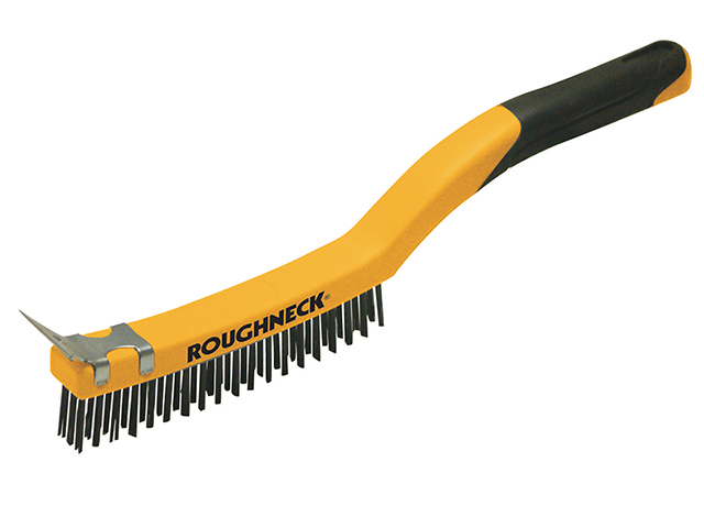 Stainless Steel Wire Brush Soft Grip 350mm with scraper