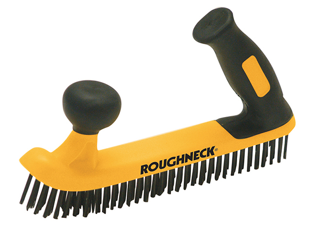 Two Handed Wire Brush Soft Grip