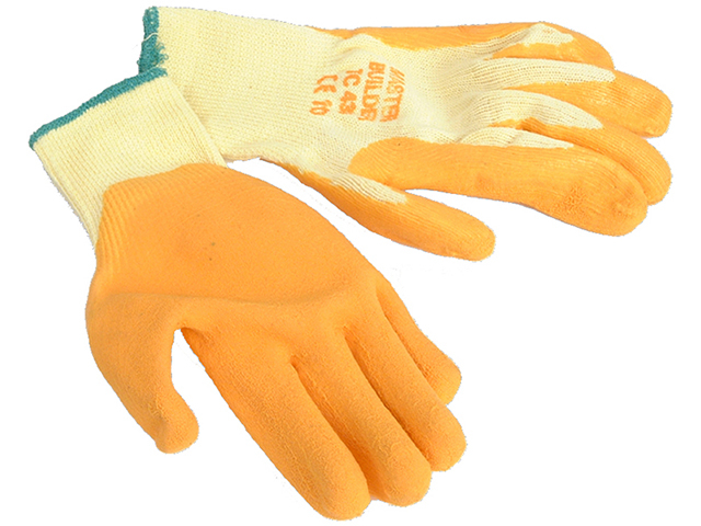 LATEX PALM GLOVE SIZE 9 BUILDERS GRIP (GLO107)