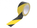 Line Marking Tape Black/Yellow 50mm x 33mtr (Hazard Tape)