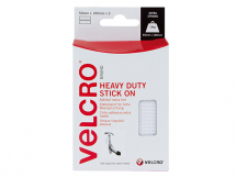 VELCRO Heavy-Duty Stick On Strips (2) 50 x100mm White