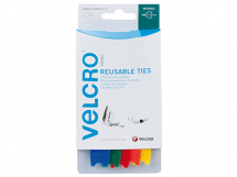 VELCRO Adjustable Ties (5) 12mm x 20cm Multi-Colour